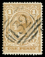 Lot 2465:132: type 1B on 1d brown Stamp Duty.  Allocated to Newstead-PO 1/8/1857; LPO 5/7/1994.