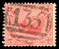 Lot 2466:135: on 1d pink.  Allocated to Epsom-PO 1/8/1857; LPO 30/5/1994.