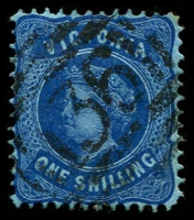 Lot 2467:136: type 1B recut on 1/- blue Bell.  Allocated to Eaglehawk-PO 1/8/1857; LPO 1/9/1997.