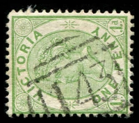 Lot 2472:143: '143' type 1B on 1d green Bell.  Allocated to Heywood-PO 18/8/1857; LPO 9/9/1997.