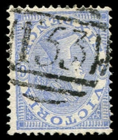 Lot 2478:153: type 1B on 6d blue Laureate.  Allocated to Linton's-PO 5/11/1857; renamed Linton PO c.1860; LPO 11/10/1993.