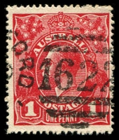 Lot 12894:1622: '1622' right half of unframed duplex on 1d red KGV.  Allocated to Abbotsford-PO 9/1/1888; LPO 4/1/2000.