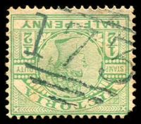 Lot 2487:173: 2nd type on ½d green.  Allocated to Daylesford-PO 1/2/1858; LPO 1/5/1998.