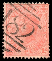 Lot 2492:182: '182' type 1BR on 1d pink.  Allocated to Harcourt-Replaced Mount Alexander PO 1/3/1858; LPO 5/7/1994.