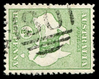 Lot 2445:80: right half duplex on ½d Roo.  Allocated to Swan Hill-PO 1/2/1849.