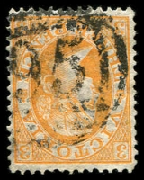 Lot 2455:95: on 3d orange Laureate. [Rated R]  Allocated to Ceres-PO 14/2/1856; closed 31/3/1962.