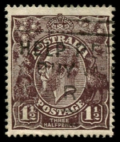 Lot 514:1½d Black-Brown Die I - [2L35] Blurred flaw to right of THREE etc