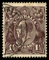Lot 148:1½d Black-Brown Die I - [2L35] Blurred flaw to right of THREE etc, some toned perfs.