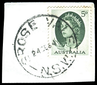 Lot 1368:Grose Vale: - 'GROSE VALE/24?E64/N.S.W.' on 5d green QEII.  PO 1/1/1884.