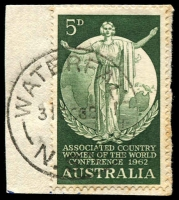Lot 1464:Waterfall: - 'WATERFALL/31OC62/N.S.W' on 5d CWA.  PO 21/6/1886.