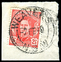 Lot 1467:Weaver's: - 'WEAVER'S/7FE48/=N.S.W=' on 2½d red KGVI.  RO 1/1/1927; PO 1/7/1927; renamed Maroota PO 1/5/1956.