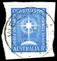 Lot 1469:Welby: - 'WELBY/2???64/N.S.W-AUST' on 5d Xmas.  PO 1/5/1947; closed 15/3/1971.