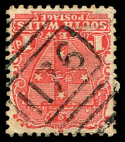 Lot 1116:1176: BN on 1d Arms. [Rated 3R]  Allocated to Oakwood-PO 16/4/1883; TO 22/8/1961; closed 13/9/1971.