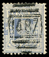 Lot 1145:1487: BN on 2d blue. [Rated 3R]  Allocated to Termeil-PO 1/9/1889.