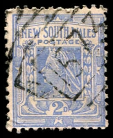 Lot 1161:1573: '1573' BN on 2d blue. [Rated 3R - the first offered by us.]  Allocated to Stony Crossing-PO 16/10/1890; closed 31/7/1956.