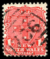 Lot 1177:1706: BN on 1d Arms. [Rated 4R - the first offered by us.]  Allocated to Wetherill Park-PO 1/6/1893; closed 28/8/1980.
