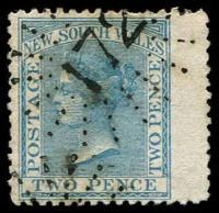 Lot 1013:172: '172' rays (2R19) on 2d pale blue DLR. [Rated 4R - the first offered by us.]  Allocated to Mangrove Creek-PO 1/1/1857; closed 29/4/1964.