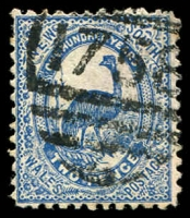 Lot 1184:1758: '1758' BN on 2d Centennial. [Rated 4R]  Allocated to Walbundrie Reefs-PO 1/7/1895; renamed Bulgandry PO 15/9/1900; closed 3/3/1975.