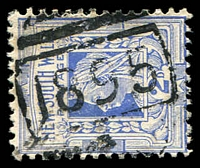 Lot 1199:1895: BN on 2d blue. [Rated 3R]  Allocated to Beryl-PO 1/9/1898; closed 29/2/1964.