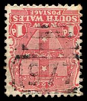 Lot 1213:1977: light BN on 1d Arms. [Rated 4R - the first offered by us.]  Allocated to Forest Hill-RO 1/6/1899; PO 1/3/1900; closed 4/3/1916.
