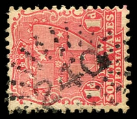 Lot 962:240: rays (2R20) on 1d Arms. [Rated SS]  Allocated to Miller's Forest-PO 1/1/1859; closed 30/9/1971.