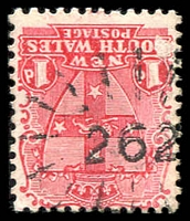 Lot 982:262: rays (3R16) on 1d Arms. [Rated 2R]  Allocated to Nowendoc-PO 1/8/1867; closed 30/3/1979.