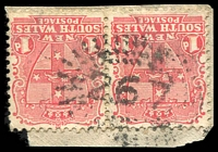 Lot 988:267: rays (2R36) on 1d Arms pair. [Rated 3R]  Allocated to Burrier-PO 1/1/1863; closed 31/1/1964.