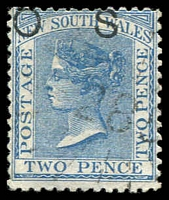 Lot 1008:285: '285' rays (3R16) on 2d DLR opt 'OS'. [Rated 3R]  Allocated to Milton-PO 1/1/1860.