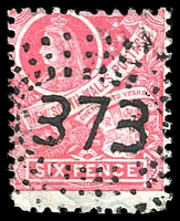 Lot 1064:373: rays (2R32) on 6d red Centennial.  Allocated to Summer Island-PO 1/1/1863; closed c.-/2/1907.
