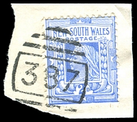 Lot 1072:387: BN on 2d blue.  Allocated to Cooranbong-PO 1/1/1866.