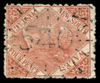 Lot 1161:540: rays (early version) on 4d DLR.  Allocated to Hill End-PO 1/8/1869; closed 1/7/1994.