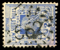 Lot 1073:562: rays on 2d blue. [Rated 3R]  Allocated to Central McDonald-PO 1/2/1870; closed 30/7/1966.
