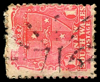 Lot 1251:716: rays on 1d Arms. [Rated 4R]  Allocated to Cox's River-PO 1/1/1874; closed 31/12/1954.