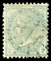 Lot 1091:811: rays on ½d green. [Rated 3R - the first offered by us.]  Allocated to Maryvale-PO 15/10/1875; closed 25/7/1980.