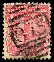 Lot 1099:875: BN on 1d Arms. [Rated 3R]  Allocated to Bendolba-PO 1/4/1877; closed 28/3/1968.