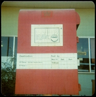 Lot 1489:Ayers Rock: - colour photo of Post Box At PO taken c.1980.