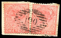 Lot 2084:190: on 1d red x2.  Allocated to Tumby Bay-PO 18/11/1863.