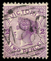 Lot 2550:1086: 'M86' on 2d violet. [Rated SS]  Allocated to Hanson South-PO 1/10/1878; closed 28/2/1948.