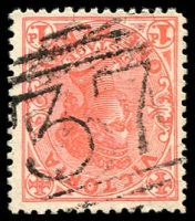Lot 2418:37: 2nd type on 1d pink.  Allocated to Elephant Bridge-PO 1/3/1848; renamed Darlington PO c.1860; closed 13/1/1994.