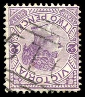 Lot 2527:516: '516' on 2d violet.  Allocated to Elmhurst-PO 20/2/1865; LPO 15/11/1993.