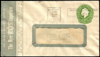 Lot 651:1953-57 3d Green QEII Large Die BW #ES91 on window-faced envelope, for The Myer Emporium, cancelled with 18 Jan 1955 Melbourne slogan cancel.