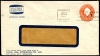 Lot 657:1956-57 3½d Orange QEII Large Die BW #ES93 on window-faced envelope with small logo for Ampol Petroleum Pty Ltd, Melbourne, 13 Nov 1958 Melbourne slogan cancel.