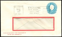 Lot 665:1960 5d Light Blue QEII Small Die BW #ES98 on window-faced envelope for Victorian Automobile Chamber of Commerce Insurance Co Ltd, Melbourne, cancelled with 19 Aug 1963 Melbourne slogan cancel.