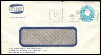 Lot 670:1960 5d Light Blue QEII Small Die BW #ES98 on window-faced envelope with small logo for Ampol Petroleum Victoria Pty Ltd, Melbourne, cancelled with 8 Jly 1963 Melbourne slogan cancel.