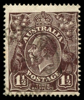 Lot 509:1½d Black-Brown Die I - [1R6] Small spur in white border in TRC, etc
