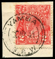 Lot 1481:Yamba: - 'YAMBA/30MY34/=N.S.W=' on 2d red KGV.  Renamed from Clarence River Heads PO 1/6/1885.
