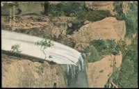 Lot 56 [1 of 2]:Australia - New South Wales: multi-coloured PPC 'Belmore Falls', franked with ½d green pair, 'TORONTO/DE23/1907