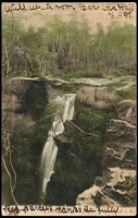 Lot 57 [1 of 2]:Australia - New South Wales: multi-coloured PPC 'Fitzroy Grotto Fall', franked with 1d Arms, framed 'GLENQUARRY/MR30/????/N.S.W