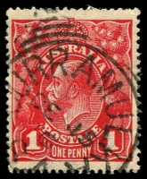 Lot 1788:Curramulka: - squared-circle 'CURRAMULKA/DE15/16/S_A' on 1d red KGV.  PO c.-/8/1877; CMA 29/10/1993.