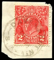 Lot 1792:Davenport North: - 'DAVENPORT NTH/6A?36/S.A' on 2d red KGV. [Rated R]  Renamed from Port Augusta Extension PO 1/6/1925; renamed Port Augusta North PO 1/4/1968.